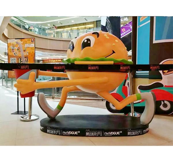 汉堡包卡通雕塑案例