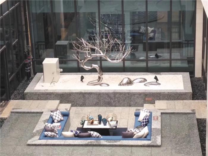 广东珠海华发和美不锈钢雕塑案例