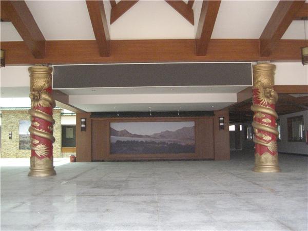 龙柱装饰清远市办公大楼案例