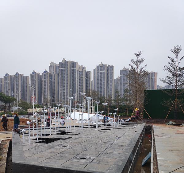 湛江富力天海湾不锈钢景观雕塑项目