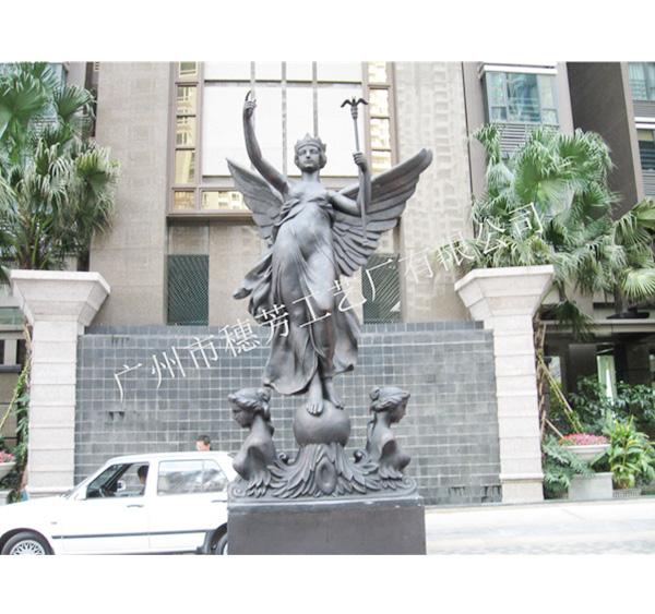 广场园林树脂太阳女神雕塑摆件