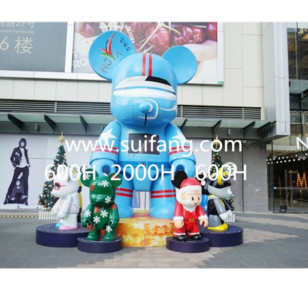 商场卡通玻璃钢雕塑
