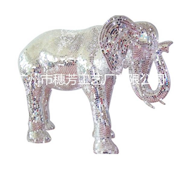马赛克雕塑   玻璃钢大象雕塑