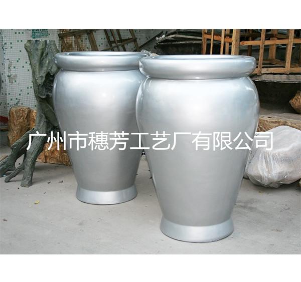 潮汕商场时尚花盆   玻璃钢花盆组合