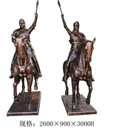 波斯士兵骑士马玻璃钢雕塑