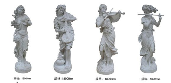 欧式人物   西方女士玻璃钢雕塑