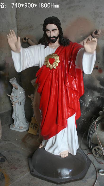 上帝耶稣人像玻璃钢雕塑