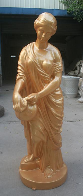 拿罐女神玻璃钢雕塑