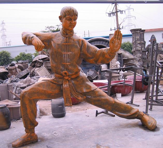 黄飞鸿武术玻璃钢雕塑