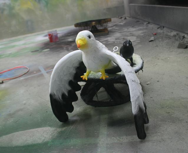 玻璃钢海鸥雕塑