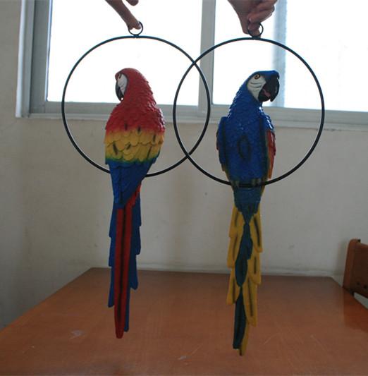 玻璃钢鹦鹉雕塑