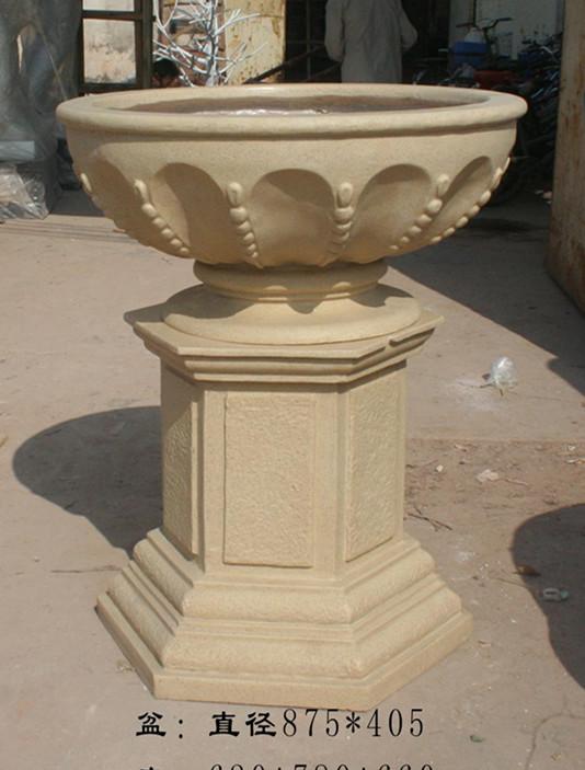 厂家直销欧式花盆带底座方柱玻璃钢花盆