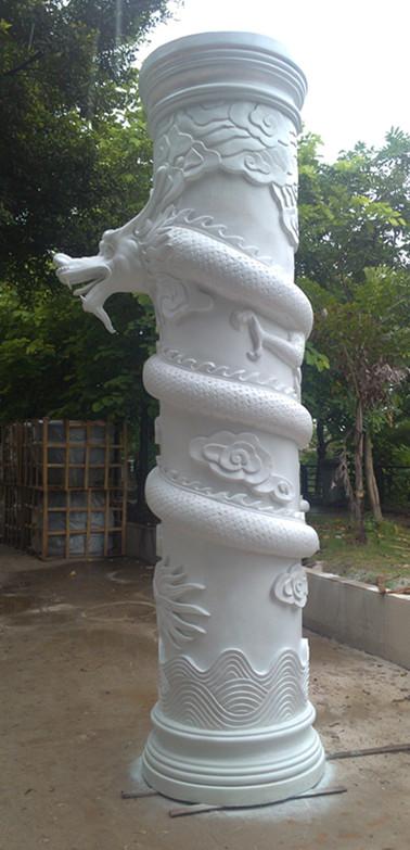 盘龙柱玻璃钢雕塑