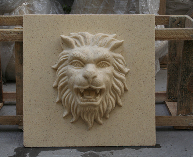 狮子头喷泉浮雕挂件