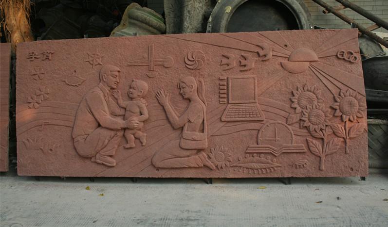 浮雕       红砂玻璃钢雕塑