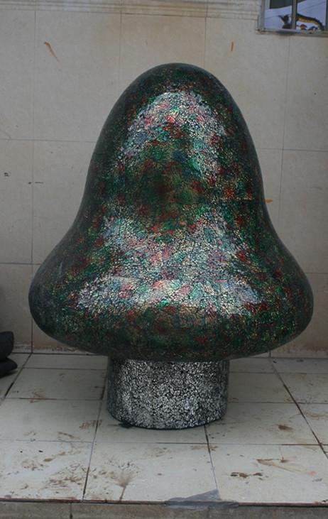 马赛克玻璃蘑菇工艺品玻璃钢雕塑