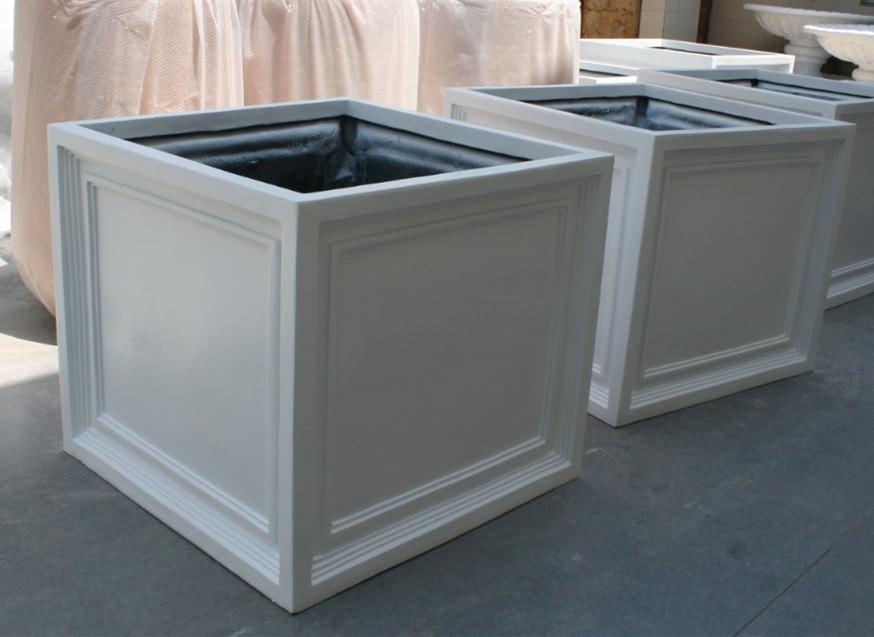 白色玻璃钢组合花槽