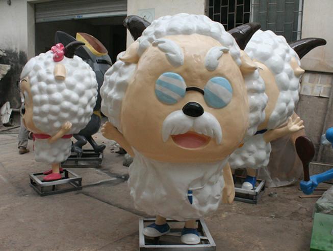 喜洋洋村长一家玻璃钢雕塑
