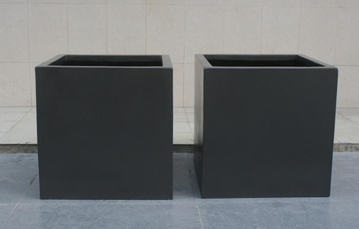 玻璃钢黑色花槽组合