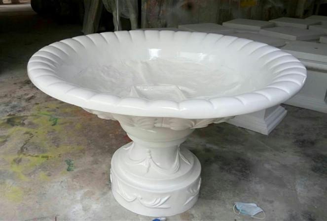 玻璃钢白色大花盆