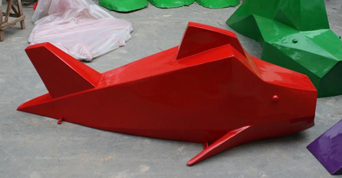 鱼型座椅玻璃钢雕塑