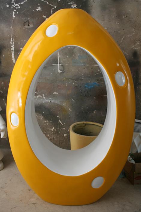 蛋形商场座椅玻璃钢坐凳
