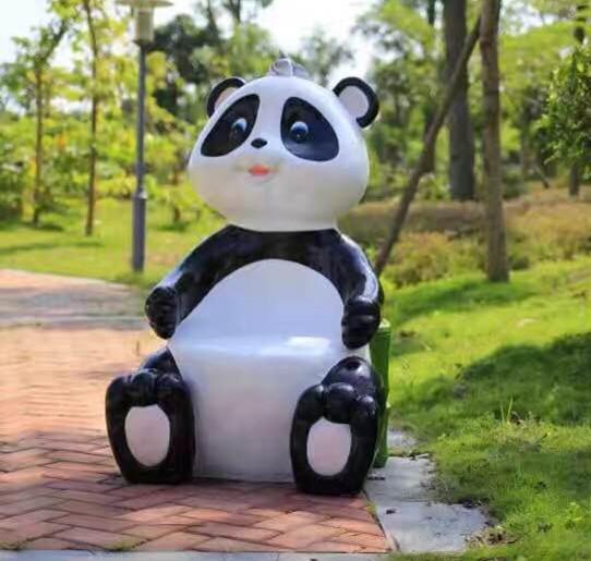 玻璃钢熊猫座椅