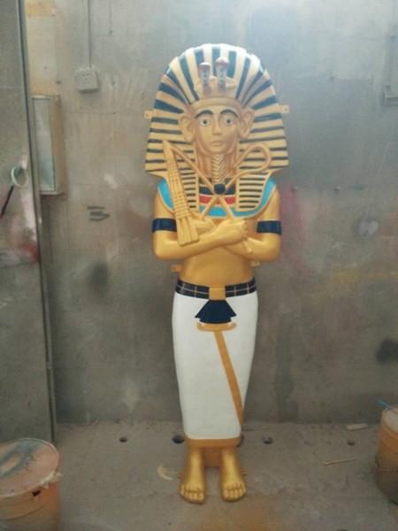 埃及法老玻璃钢雕塑