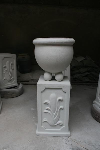 白色石漆花盆