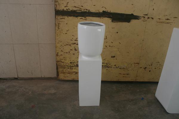 玻璃钢商场白色花盆