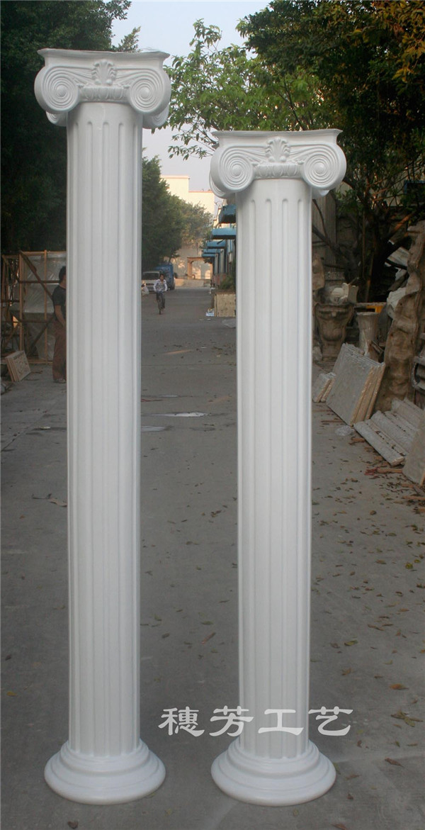 玻璃钢白色罗马柱
