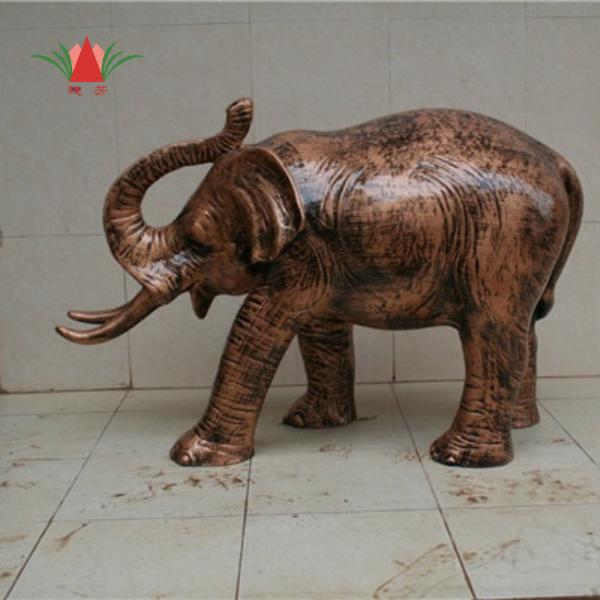 大象雕塑玻璃钢工艺品