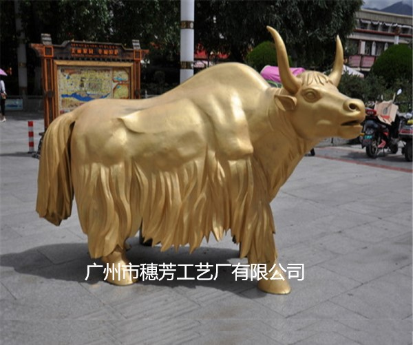 牛年吉祥物牦牛动物雕塑园林景观摆件