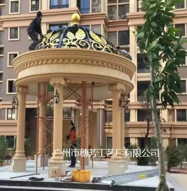 罗马柱装饰柱玻璃钢凉亭酒店罗马柱