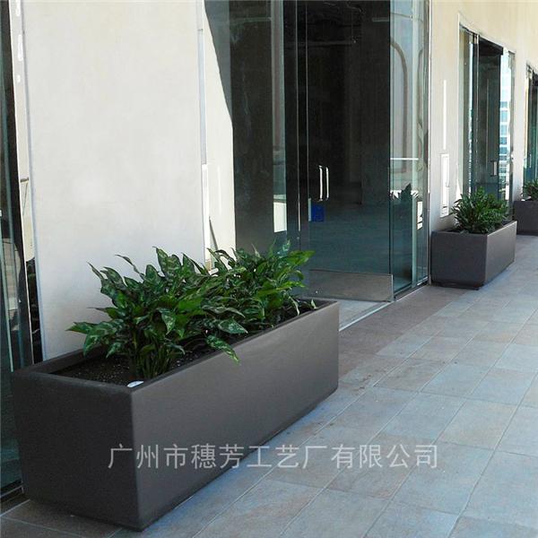 商场景观种植花箱户外玻璃钢花箱花槽园林商业街长方形花盆种植箱