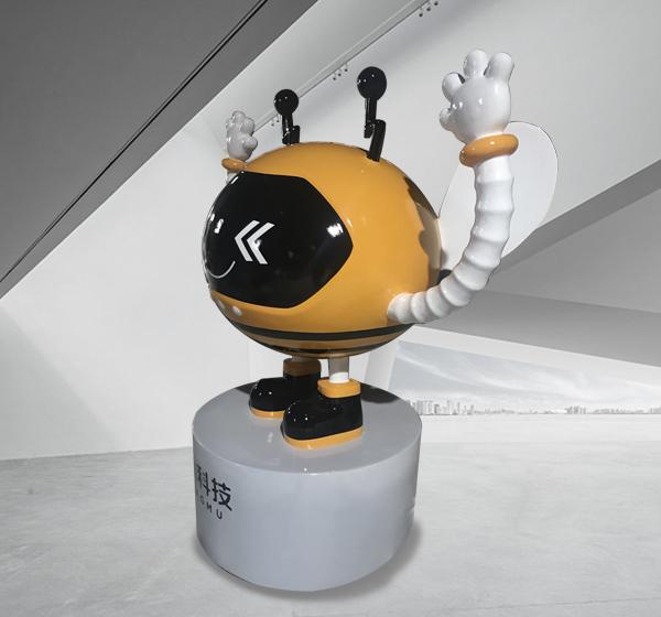 卡通雕塑蜜蜂玻璃钢雕塑摆件