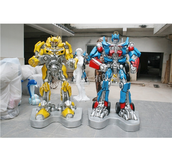 商场陈美大黄蜂机器人装饰雕塑 电影院大堂落地装