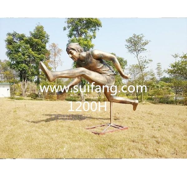 深圳学校玻璃钢人物仿铜雕塑