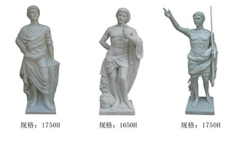 人物雕塑    凯撒、屋大维玻璃钢雕塑