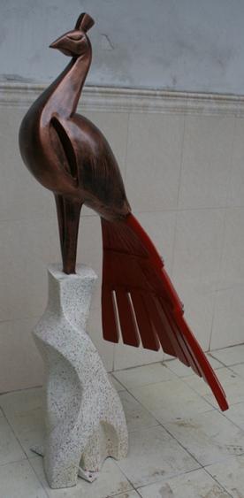 玻璃钢孔雀雕塑