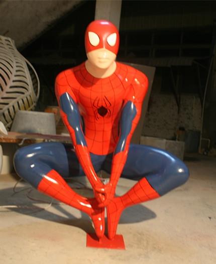 蜘蛛侠玻璃钢雕塑