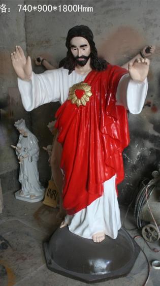 人物雕塑   玻璃钢耶稣雕塑