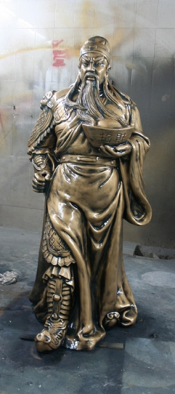 关公财神玻璃钢雕塑