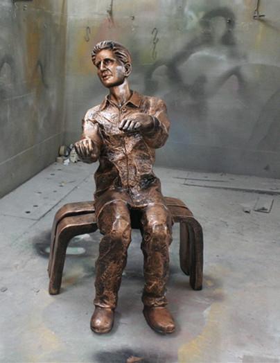 人物雕塑   玻璃钢钢琴家雕塑