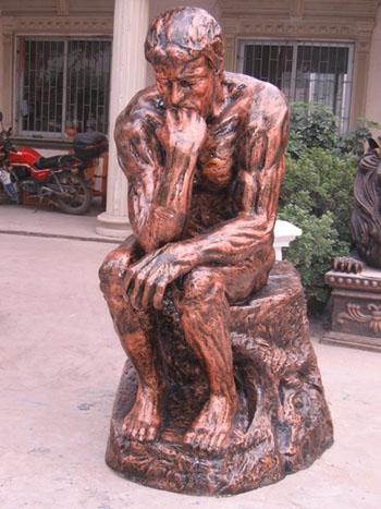 沉思者人物玻璃钢雕塑