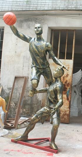打篮球运动玻璃钢雕塑