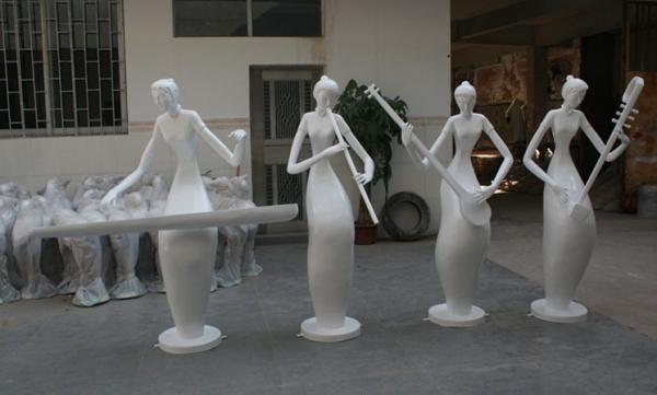 梅兰竹菊玻璃钢雕塑