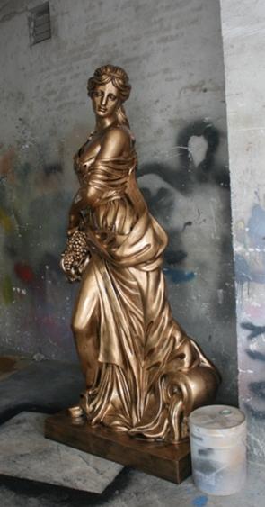 人物雕塑   玻璃钢提篮-丰收女神雕塑