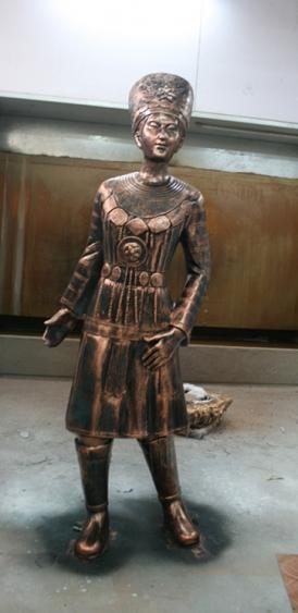 少数民族少女玻璃钢雕塑
