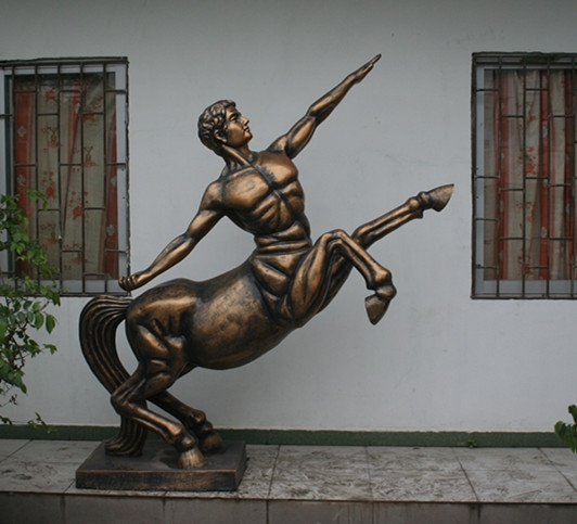 人物雕塑   玻璃钢骑士马雕塑